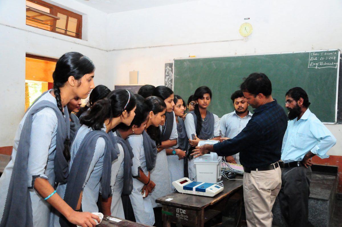 Demonstration of VVPAT for students and faculty