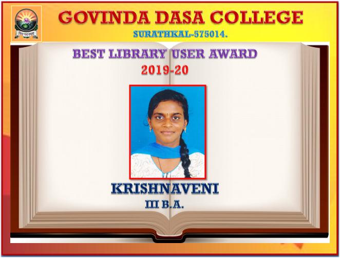 Best Library User Award 2019-20