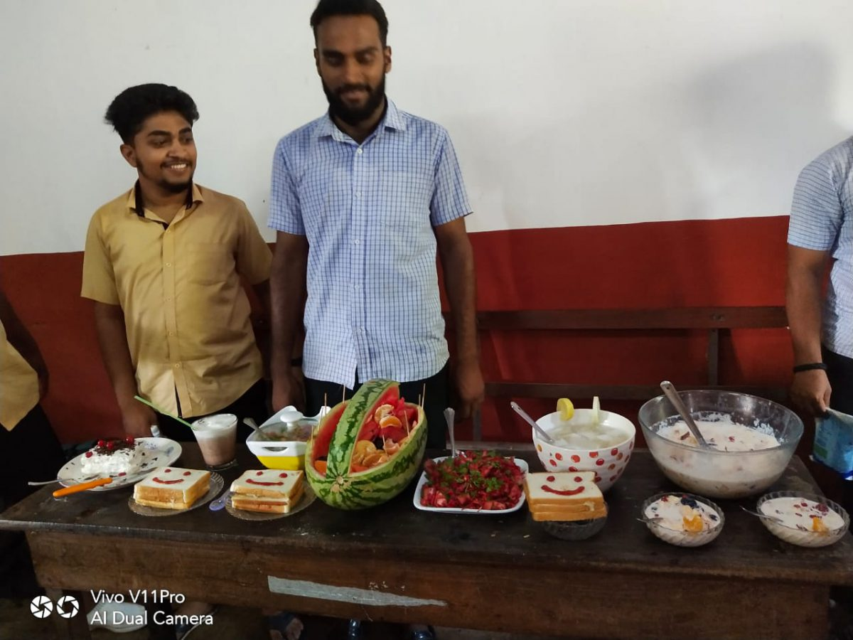 Interclass Cooking without fire Competition -2019-2020