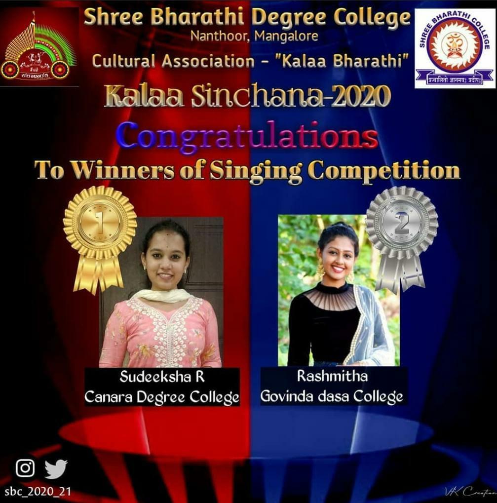 Students Bagged Prizes at Kalaa Sinchana 2020-21